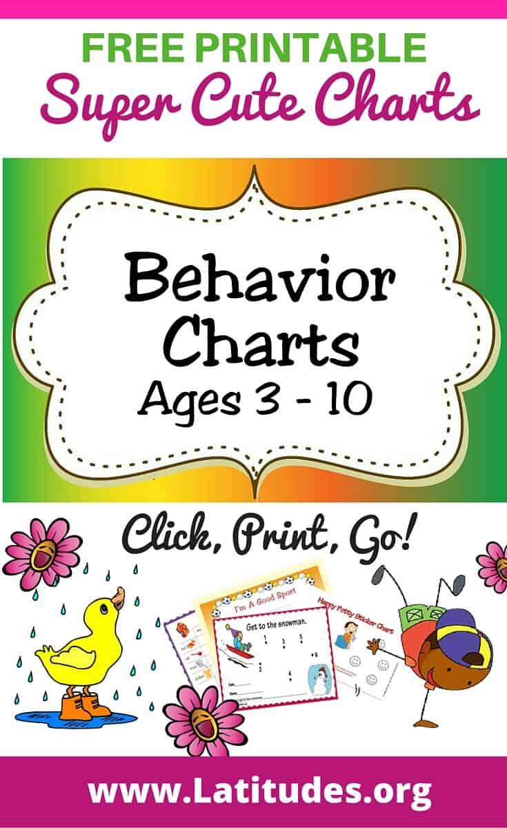 FREE Printable Behavior Charts (Ages 3-10)   ACN Latitudes