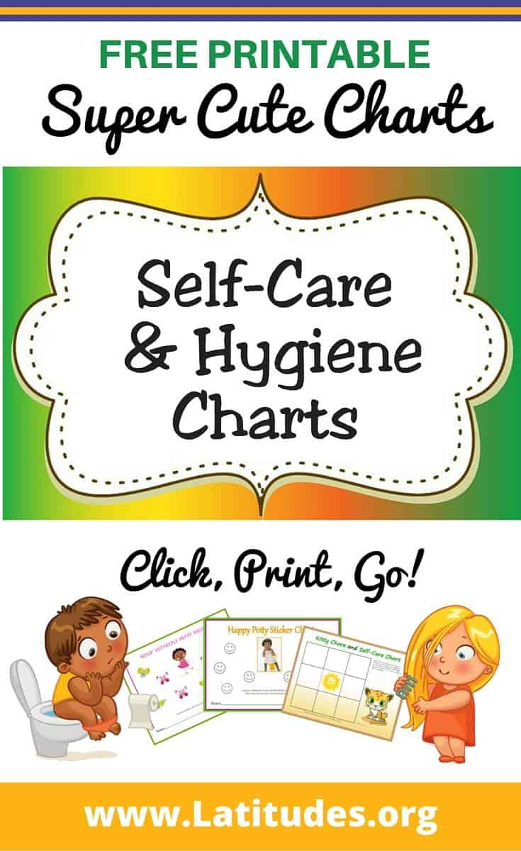 printable self care hygiene charts for kids acn latitudes self care hygiene