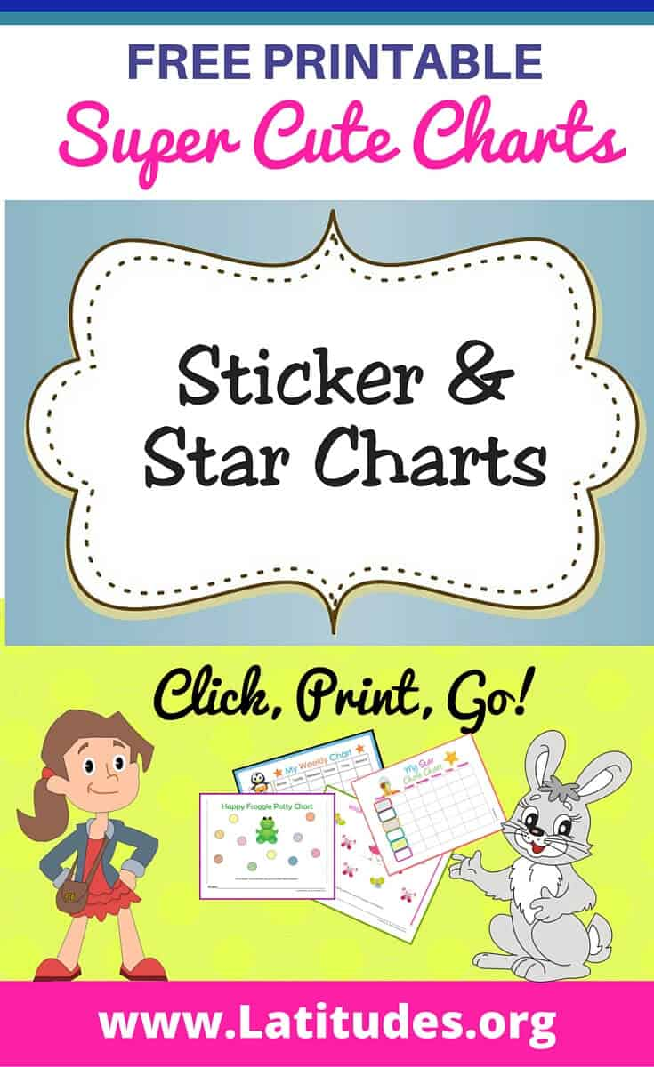 FREE Printable Sticker & Star Charts for Kids | ACN Latitudes
