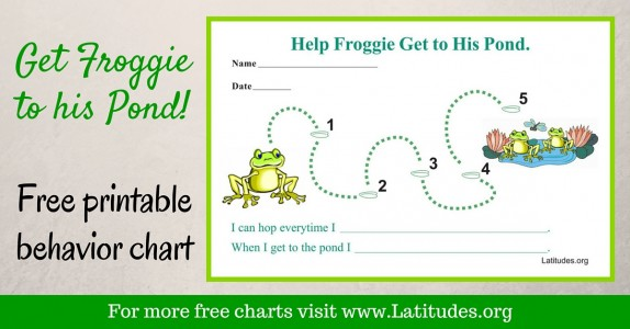 Get Froggie to his Pond Behavior Chart