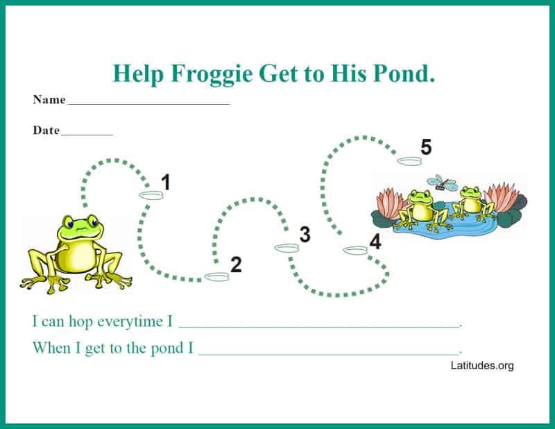 Frog to pond single behavior chart