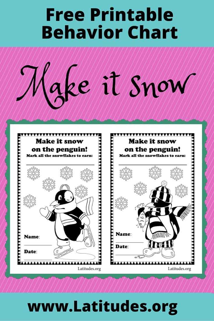 FREE Make it Snow Behavior Chart