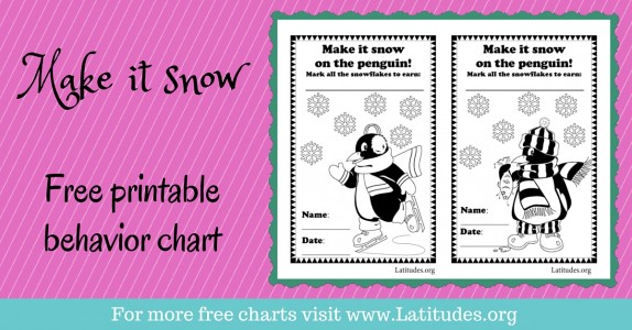 Make it Snow Behavior Chart