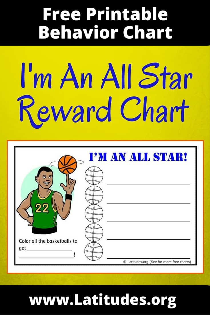 FREE Behavior Chart (Basketball All Star) | ACN Latitudes