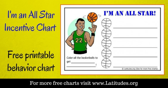 I'm an All Star Behavior Chart