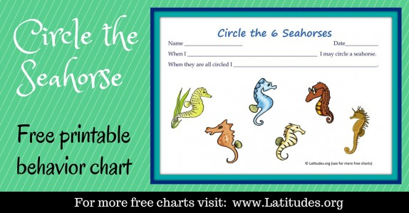 Circle the Seahorse Behavior Chart WordPress