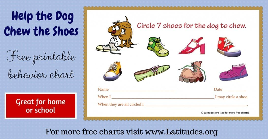 Dog Chew Shoes Behavior Chart