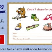 Dog Chew Shoes Behavior Chart