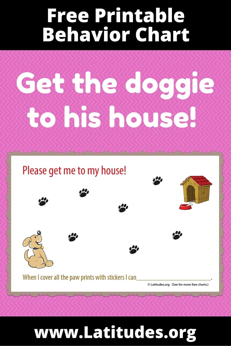 FREE Get Dog To House Behavior Chart