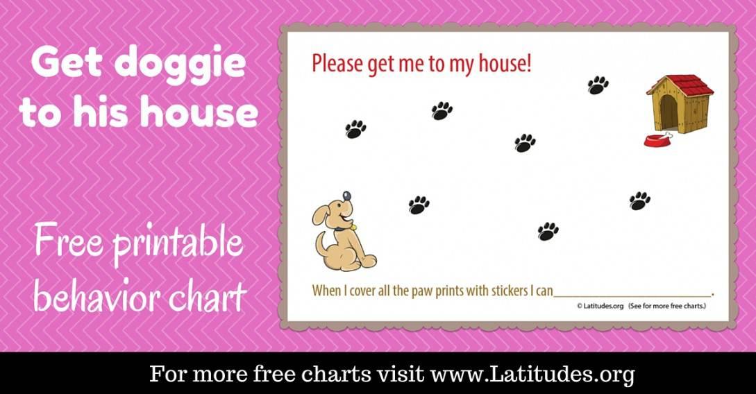 Get Dog To House Sticker Reward Chart