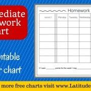 Intermediate Homework Chart