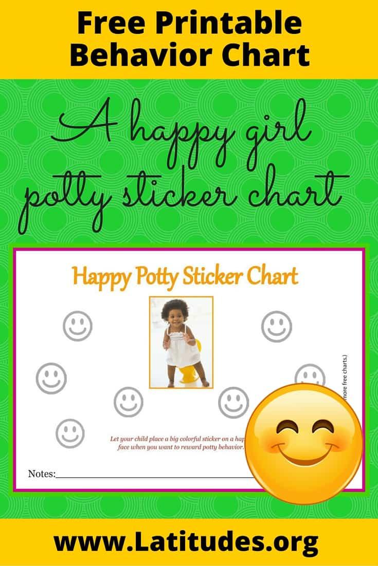 Happy Girl Potty Sticker Chart Pinterest
