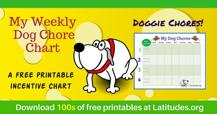 My Dog Weekly Chores Chart