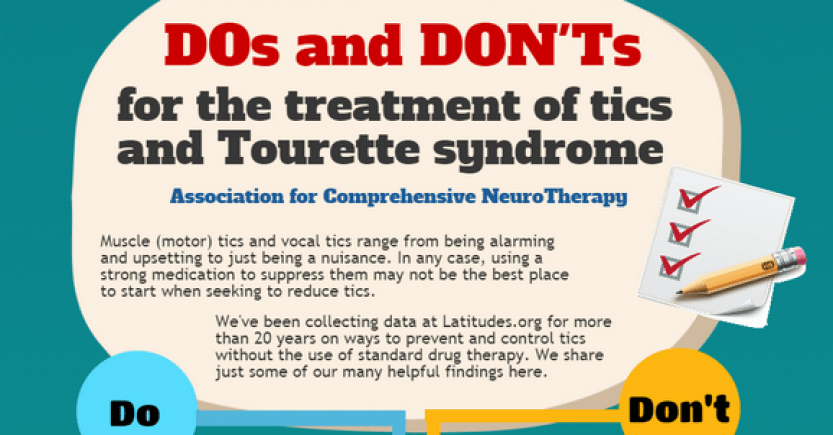 Dos and Donts for the Treatments of Tics and Tourette Syndrome (Infographic)