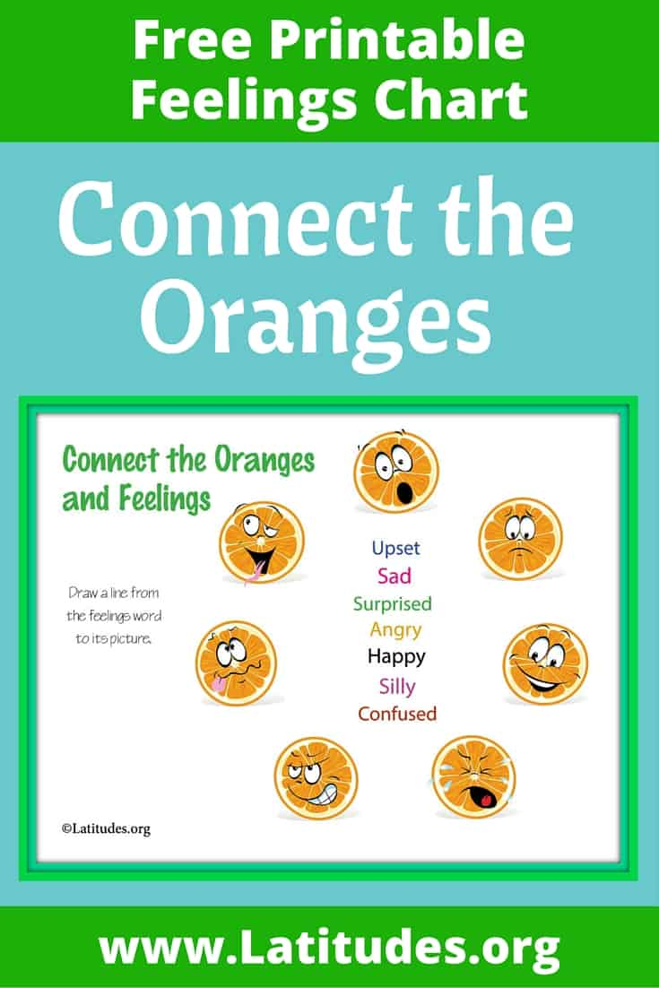 Connect the Oranges Feelings Chart Pinterest
