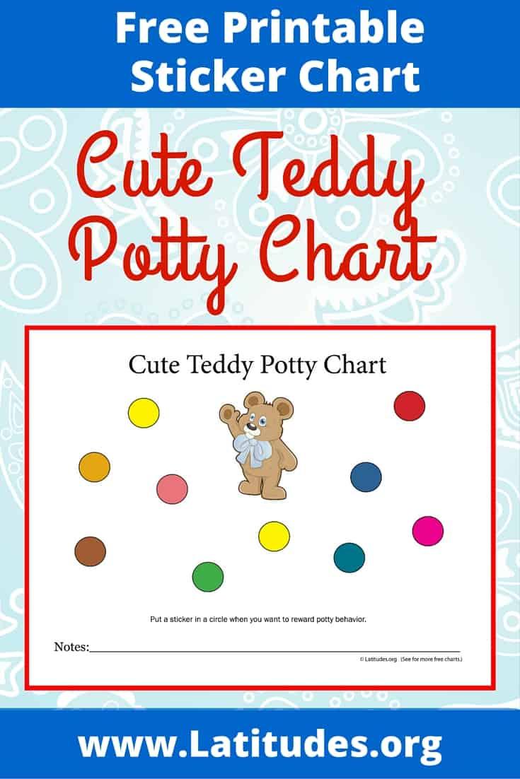 Cute Teddy Potty Chart Pinterest