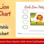 Girl's Lion Potty Chart