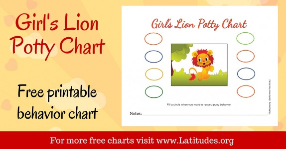 Girl's Lion Potty Chart