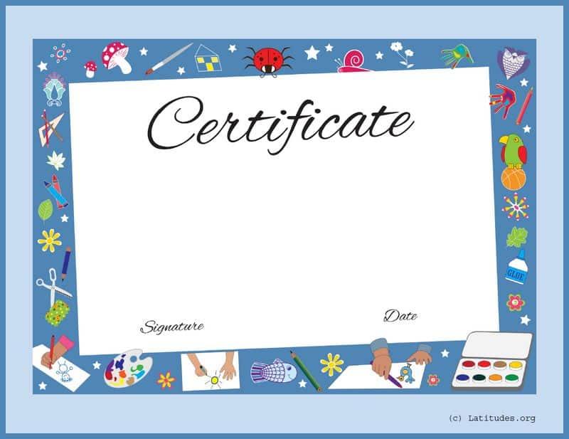Art Achievement Certificate