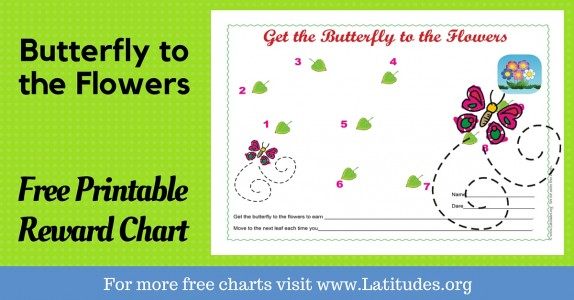 Butterfly to the Flowers Behavior Chart Wordpress