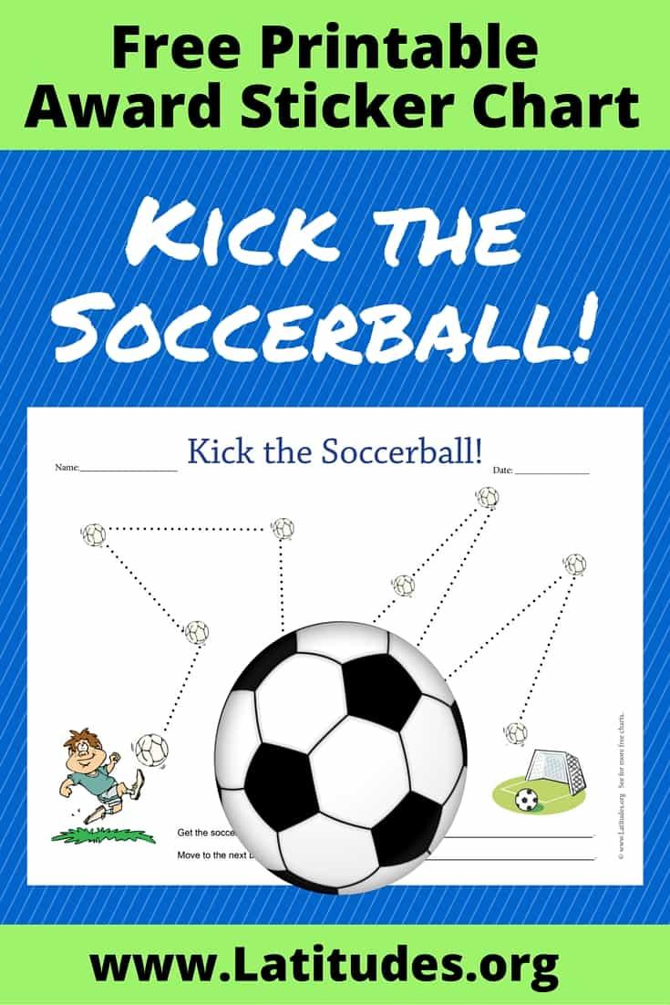 Kick the Soccerball! Behavior Chart Pinterest