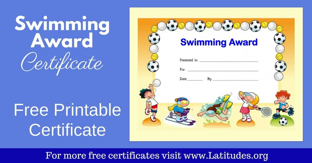 Sports award archives acn latitudes free award certificate for swimming primary yelopaper Image collections