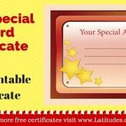 Your Special Award Certificate WordPress