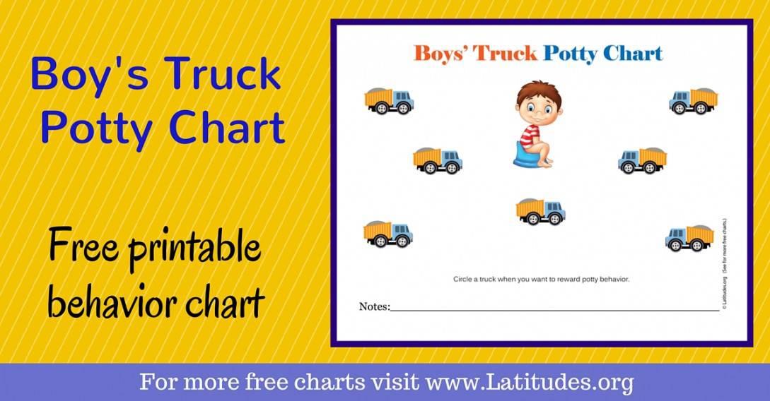Boys Truck Potty Chart WordPress