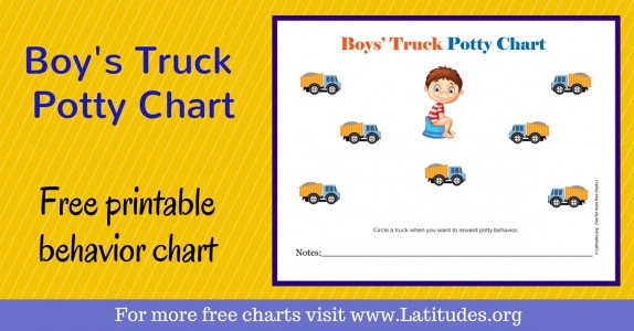 Boys Truck Potty Chart WordPress