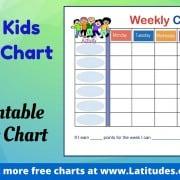 Happy Kids Weekly Behavior Chart WordPress
