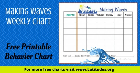 Making Waves Weekly Behavior Chart WordPress