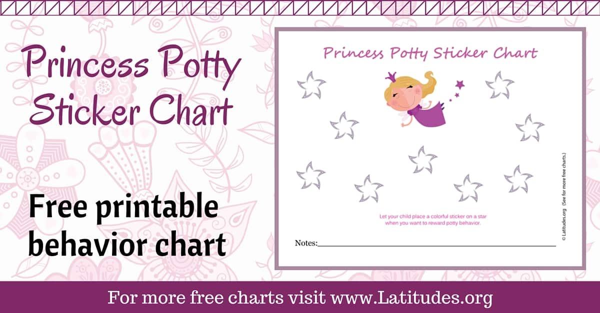 photo regarding Printable Potty Sticker Chart identify Absolutely free Potty Working out Sticker Chart (Adorable Princess) ACN