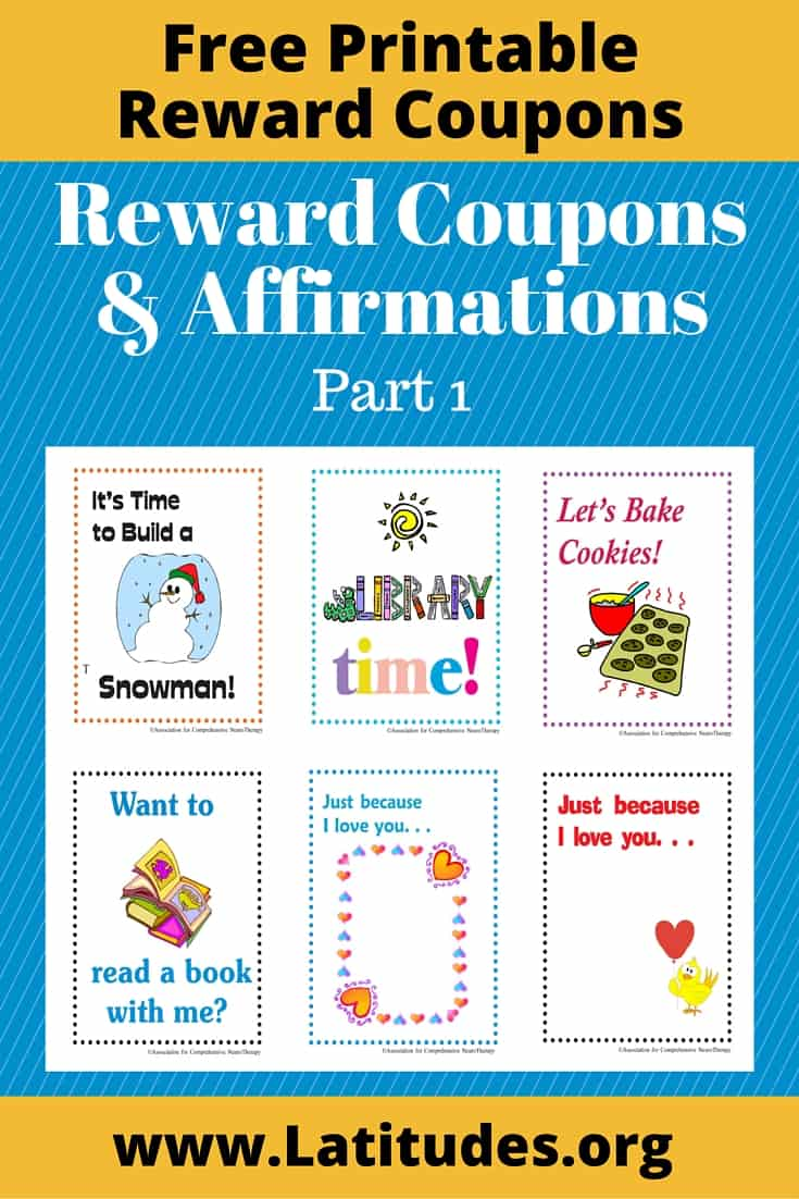 Reward Coupons Affirmations Part 1 Pinterest