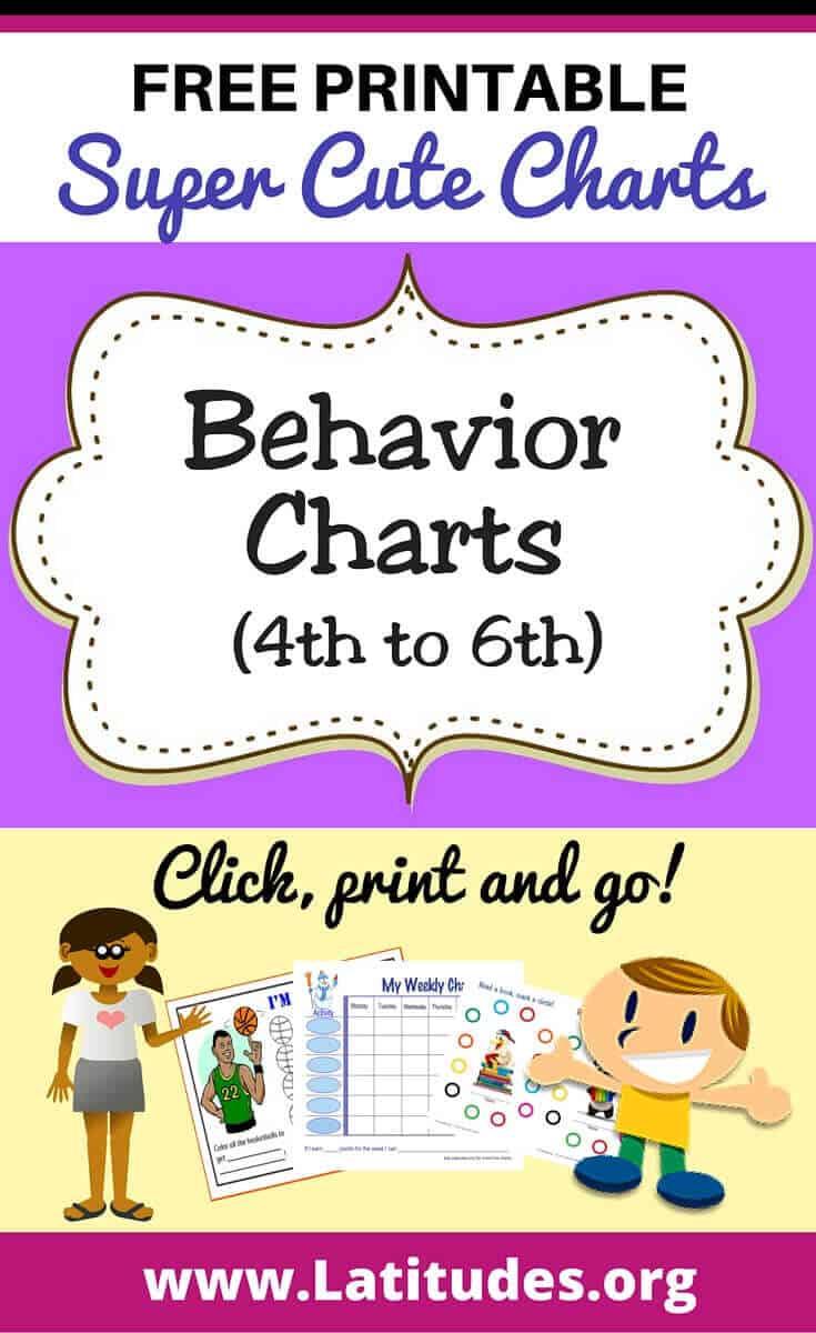 Behavior Charts (4th - 6th)