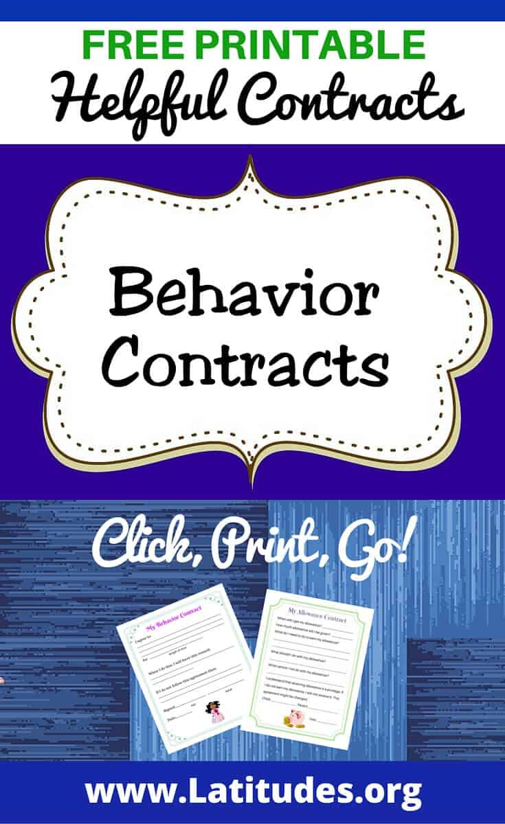 Dynamite image inside behavior contract printable