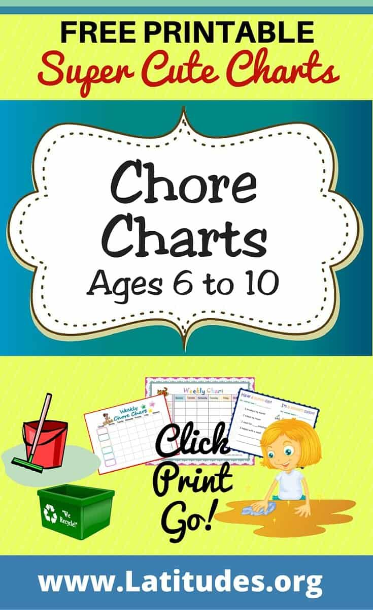Free Printable Chore Charts Ages 6 10 Acn Latitudes