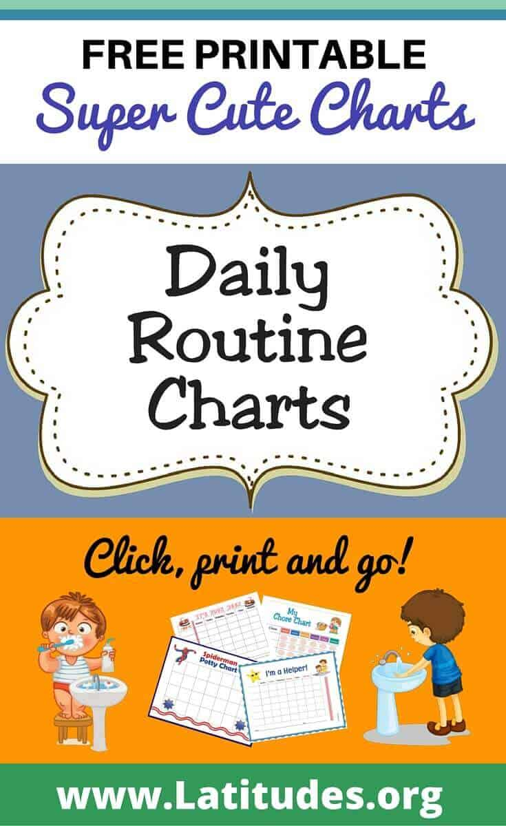 Free printable daily routine charts for kids acn latitudes daily routine charts pinerest nvjuhfo Choice Image