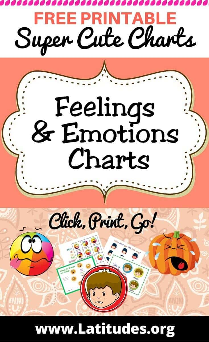 Feelings & Emotion Charts Pinterest