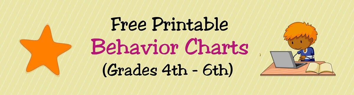 free printable behavior charts for teachers  u0026 students
