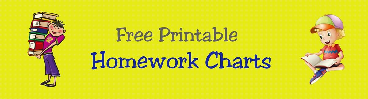FREE Printable Homework Charts for Teachers Students – Free Printable T Chart