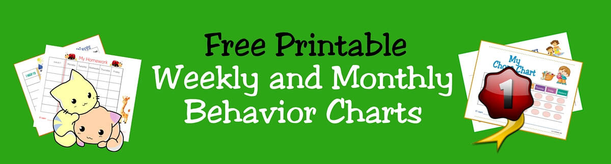 FREE Printable Weekly Monthly Charts For Kids