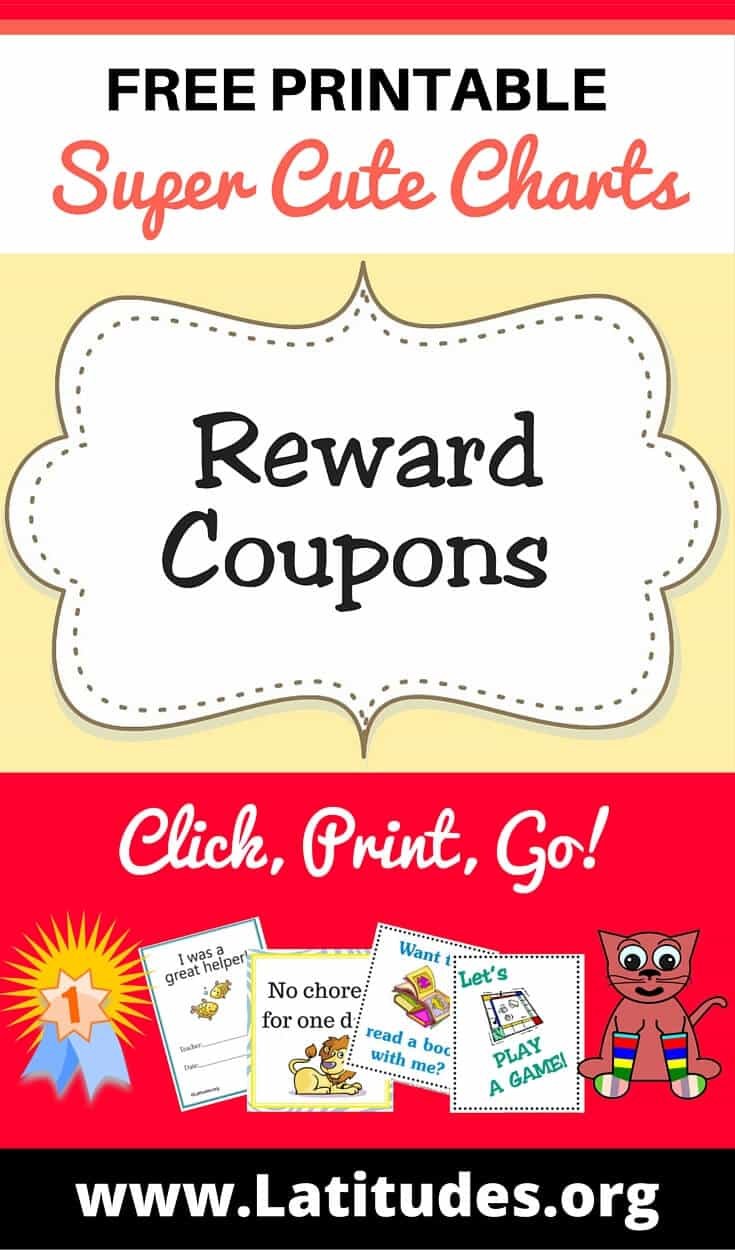 Reward Coupons Pinterest  Free Printable Reward Charts For Teachers