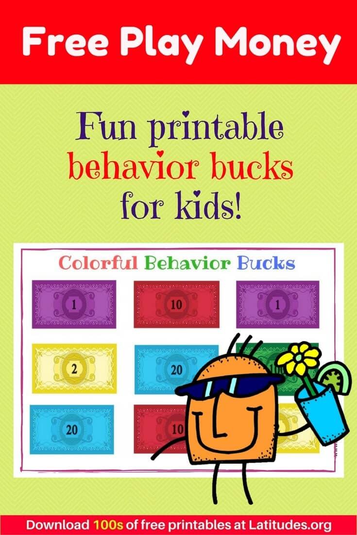 Colorful Behavior Bucks