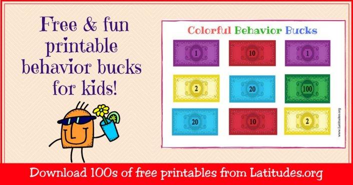 Free Colorful Behavior Bucks WordPress