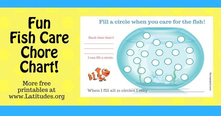 Free Fill Circles Fish Chore Chart