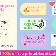 Reward Incentive Coupons Set 2