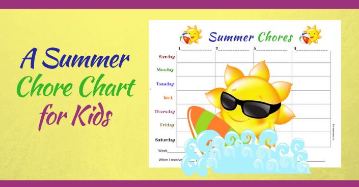 Summer Chores Chart Wordpress
