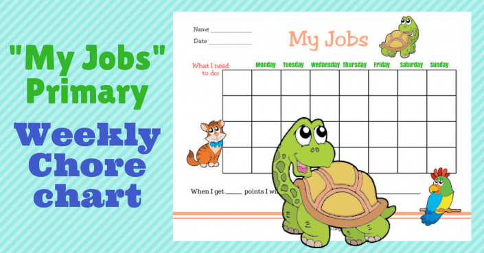 My Jobs Primary Weekly Chore Chart