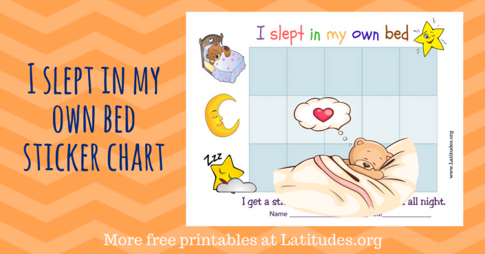 Slept in my Own Bed Sticker Chart