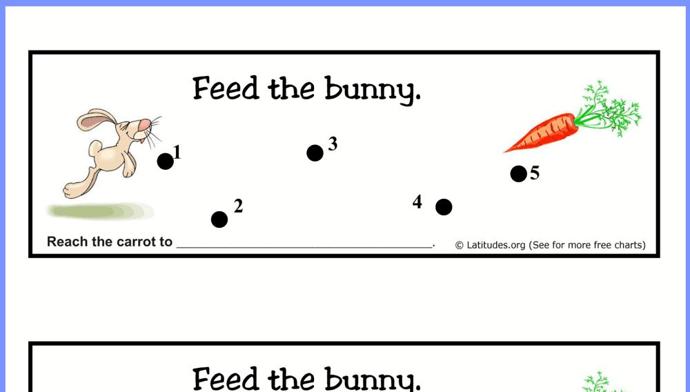 Feed the Bunny Behavior Chart